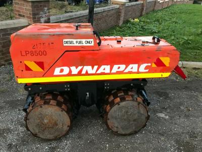 DYNAPAC LP8500 SHEEP FOOT VIBRATING TRENCH ROLLER==REMOTE CONTROL==
