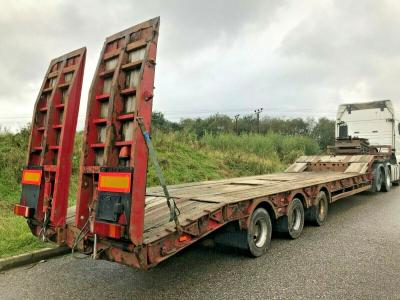 KING STEPFRAME LOW LOADER TRAILER 2007  BEAVERTAIL RECOVERY NOOTEBOOM SCANIA