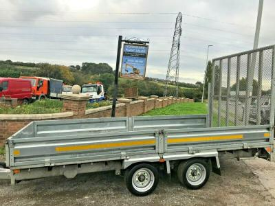 INDESPENSION 14 FOOT TWIN AXLE PLANT DROPSIDE TRAILER  IFOR WILLIAMS YEAR 2016